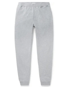 Slim-Fit Tapered Melangé Loopback Cotton-Jersey Sweatpants