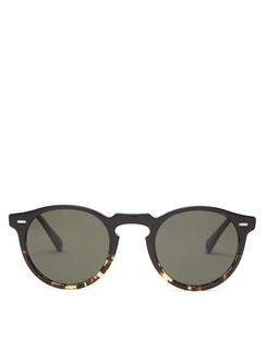 Gregory Peck Round Acetate Sunglasses