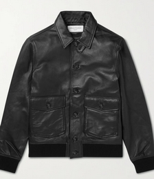 Jim Leather Bomber Jacket