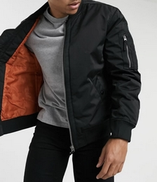 MA1 Bomber Jacket in Black