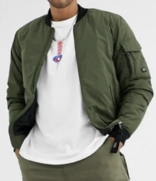 Join Life Padded Bomber Jacket in Khaki