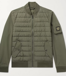 Mantle Logo-Appliquéd Quilted Shell Down Jacket