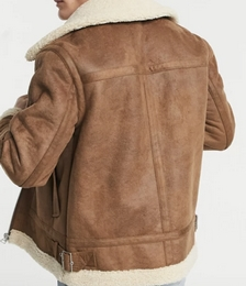 Tape Borg Jacket in Tan