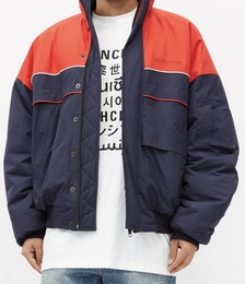 Oversized Colour-block Bomber Jacket