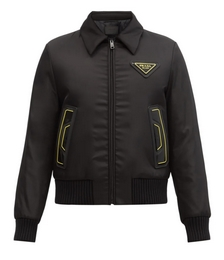 Triangle Logo-patch Padded-shell Bomber Jacket