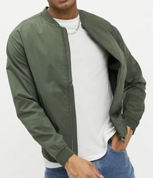 Bomber Jacket in Khaki