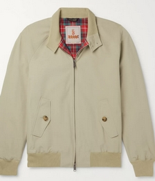 G9 Cotton-Blend Harrington Jacket