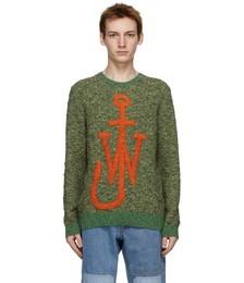 Green Textured Anchor Jumper