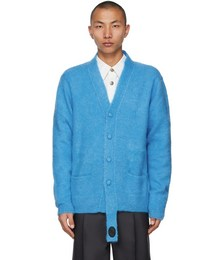 Blue Mohair Cardigan