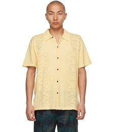 Yellow Knit 'Retro Rainbouu' Short Sleeve Shirt