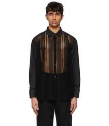 Black Lace Generous Shirt