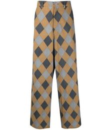Diamond Print Elasticated Trousers