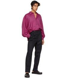 Pink Pleated Sleeve Oversized Shirt