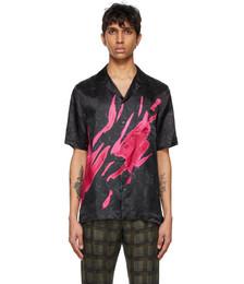 Black & Pink Len Lye Edition Graphic Short Sleeve Shirt
