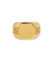 Gold Plain Signet Ring
