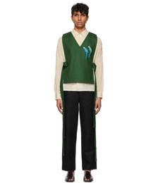 Green Twill Dickie Vest