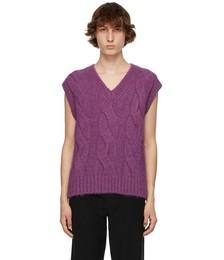 Purple Cable Knit Vest