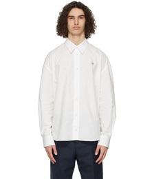 White Fox Head Casual Shirt