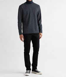 Striped Cotton-Blend Rollneck Sweater