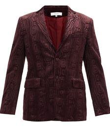 Carding Devoré-velvet Jacket