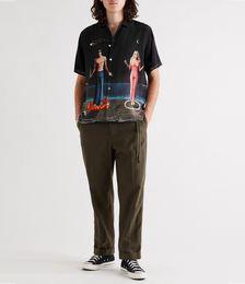 Soliel Lune Convertible-Collar Printed Silk-Satin Shirt