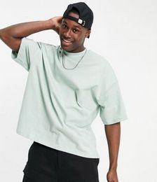 Oversized Turtleneck T-shirt in Sage Green