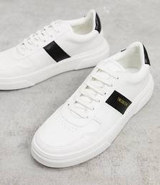 Chunky Sneakers with Stripe Detail in White
