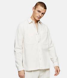 Cord Overshirt in Ecru