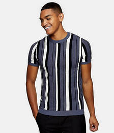 Stripe Knitted Top in Blue