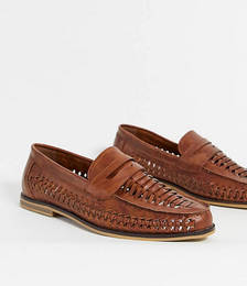 Woven Loafers in Tan