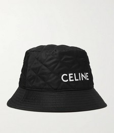Logo-Print Quilted Shell Bucket Hat