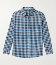 Oversized Checked Cotton-Flannel Shirt