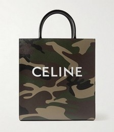 Leather-Trimmed Logo-Print Coated-Canvas Tote Bag