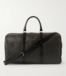Large Printed Coated-Canvas Duffle Bag