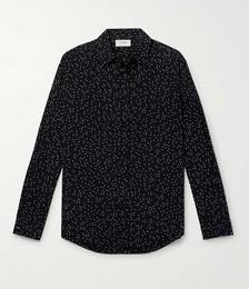 Star-Printed Viscose Western Shirt