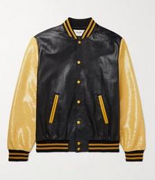 Slim-Fit Sequin-Embellished Leather Bomber Jacket