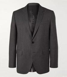 Striped Wool Suit Jacket