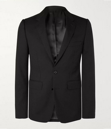 Slim-Fit Worsted Wool-Gabardine Suit Jacket