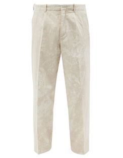 Borrowed Hand-painted Linen-blend Trousers