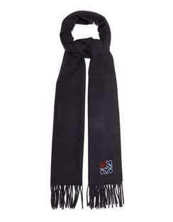 Anagram-embroidered Cashmere Scarf