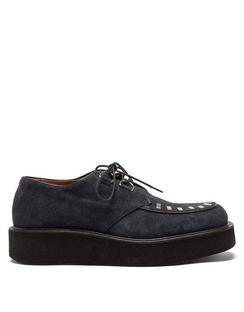 Jonny Studded Suede Creeper Shoes