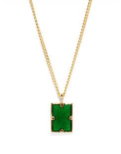 Lennox Enamel & Gold-vermeil Necklace