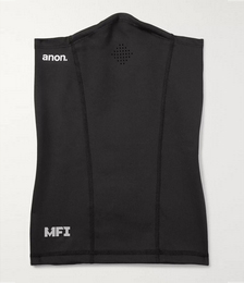 MFI Goggle-Compatible Fleece-Back Stretch-Jersey Neck Warmer
