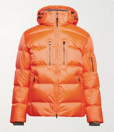 Gian-D Quilted Ripstop Down Hooded Ski Jacket