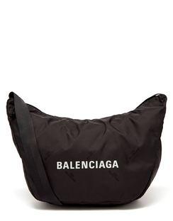 Expandable Sling Recycled-nylon Shoulder Bag
