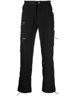 Eyelet-embellished Straight-leg Trousers