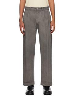 Grey Twill Work Trousers