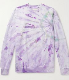 Yin Yang Embroidered Tie-Dyed Recycled Cotton-Jersey Sweatshirt