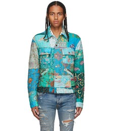 Multicolor Vintage Quilt Patchwork Trucker Jacket