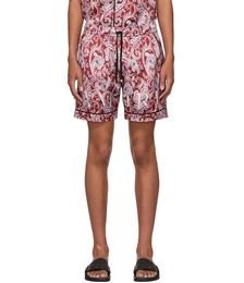 Red Paisley PJ Shorts